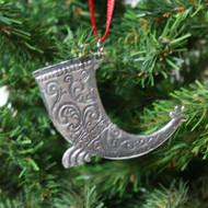 Norwegian Pewter Ornament - Drinking Horn (78-3203)