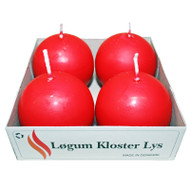 Ball Candles - Red - 4 pack (91-4060.05)