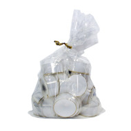 Tealights in clear cups - 18 Pack - White (93-18531)