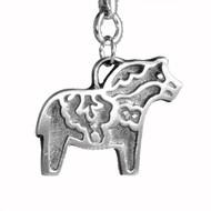 Dala Horse Pendant - Pewter (5028)