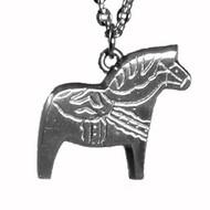 Dala Horse Pendant- Pewter (5029)