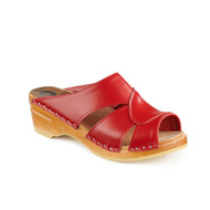Mariah Clog-Sandals in Red - Women's Original Sole Collection (373-036)