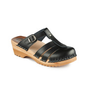 Mary Jane Clog-Sandals in Black (6077-011)