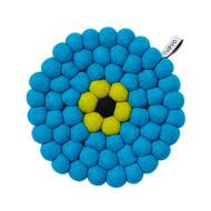 Wool Trivet/Pot Mat - Turquoise (1011)