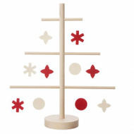 Christmas Tree with Ornaments - Wooden (JK0010)
