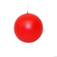 "Ball Candle- 3"" - Red (551R)"