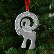 Julbock Ornament - Pewter (PO-11)