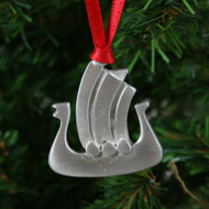 Viking Ship Ornament - Pewter (PO-13)