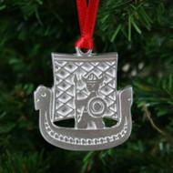 Viking Ship & Viking Ornament - Pewter (PO-14)