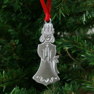 Lucia Girl Ornament - Pewter (PO-15)