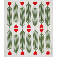 Swedish Dishcloth - Hearts & Pines (218.34)