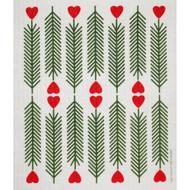 Swedish Dishcloth - Hearts & Pines (218.34)