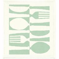 Ekelund Disktrasa Dishcloth - Tinas Bestick - Seafoam - Linen/Cotton (TInas Bestick-24)