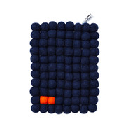 Wool Trivet/Pot Mat - Navy Blue (1020B)