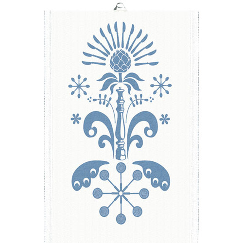 Ekelund Tea/Kitchen Towel - Tinas Kurbits - Blue (Tinas Kurbits-21T)