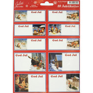 Tomte Christmas Sticker/labels - Jan Bergerlind (994602)