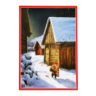 Paper Poster - Tomte and Barn (BO357)