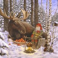 Tomte & Moose Luncheon Napkins (SE520)
