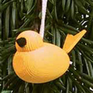 Bird Ornament - Wooden (44182Y)