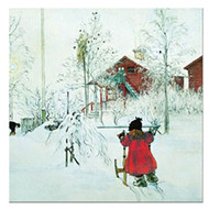Carl Larsson Yard and Washhouse Luncheon Napkin - 20 Pk. (57752)