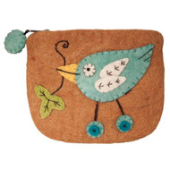Button Bird Felt Coin Purse (22117B)