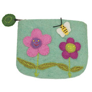Flowers Felt Coin Purse (22118F)