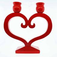 Danish Heart Candleholder - (7254)