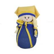 Swedish Girl Figure - Wooden - (45333)