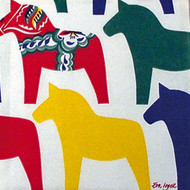 Dala Horse Luncheon Napkins - (103200)