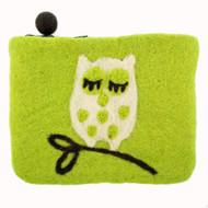 Owl Felt Coin Purse - (590427) (590427)