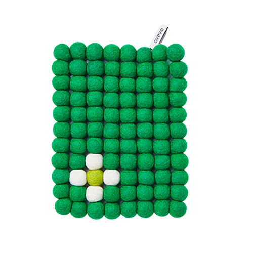 Wool Trivet/Pot Mat - Green - (1015G)