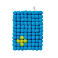 Wool Trivet/Pot Mat - Turquoise - (1016T)
