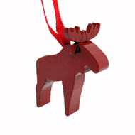 Moose Ornament - Wooden - (44389R)