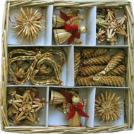 Straw Ornament Assortment - (H1-687)