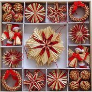 Straw Ornament Assortment - (H1-721)