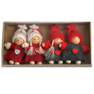 Tomte Boy and Girl Ornaments - (H1-796)