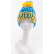 Sweden Knit Hat - Yellow/Blue - Unisex Size - (N15E)