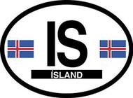 Iceland Car Decal - (OD-I)
