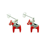 Dala Horse Sterling Silver Earrings