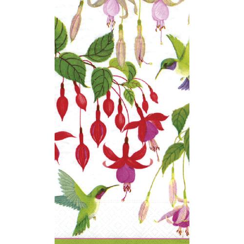 Caspari Hummingbirds Guest Towel Napkins - 11200G