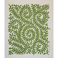 Swedish Dishcloth - Leaves Green (212G)