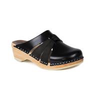 Lisa Clogs in Black/w Black Suede (6111-011)