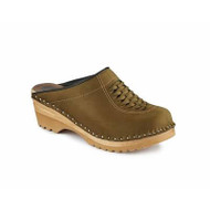 Wright Clogs in Olive Green Suede (6166-114)