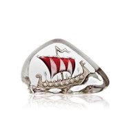 Nordic Icons Viking Ship (miniature) Red by Mats Jonasson