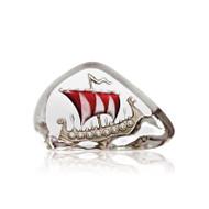 Nordic Icons Viking Ship (miniature) Red by Mats Jonasson