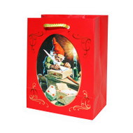 Christmas Gift Bag - Tomte Nisse & Gift (13768701)