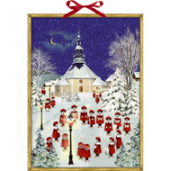 "Advent Calendar - Choir Boys in the Snow - 20.5"" x 15"""