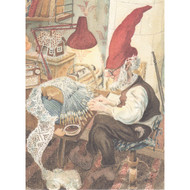 Jul Tomte Making Lace - Christmas Card (94)