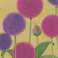 Karen's Alliums Paper Cocktail Napkins (13101C)