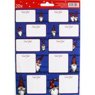Christmas Sticker/labels - Nordic Gnome Nisse - Mialotta Arvidsson Mars (12109301C)